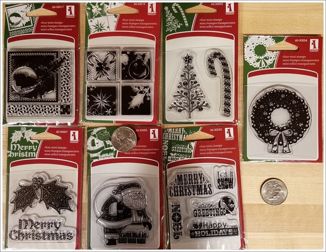 Inkadinkado Mini Clear Stamp Set - Christmas